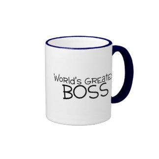 Worlds Greatest Boss Ringer Mug