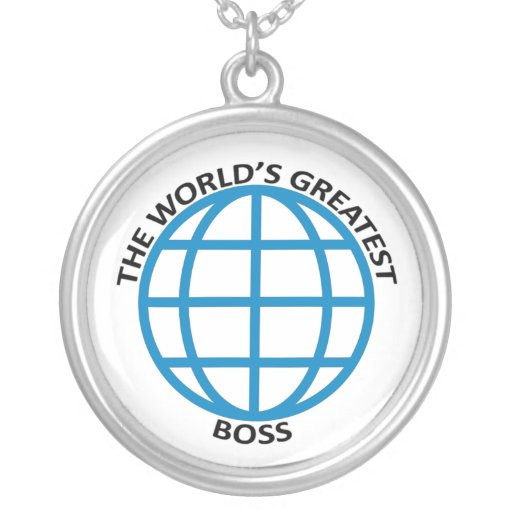 world's Greatest Boss Round Pendant Necklace