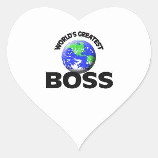 World's Greatest Boss Heart Sticker