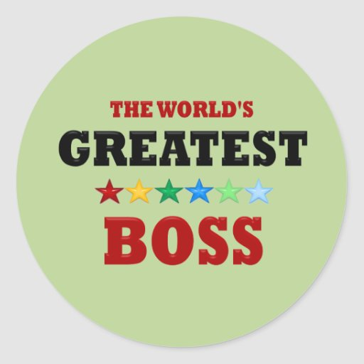 Worlds Greatest Boss Stickers