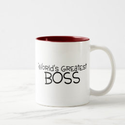 Worlds Greatest Boss Two-Tone Coffee Mug