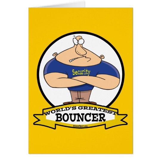 WORLDS GREATEST BOUNCER MEN CARTOON CARD