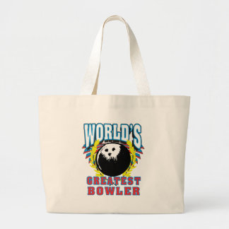 World's Greatest Bowler Large Tote Bag