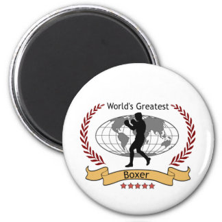 World's Greatest Boxer Boxing Gear 2 Inch Round Magnet