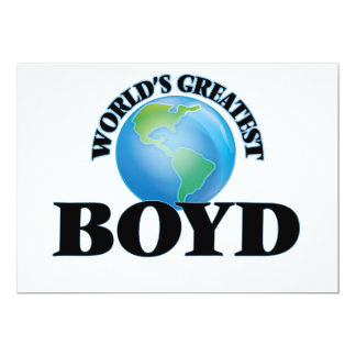 "World's Greatest Boyd 5"" X 7"" Invitation Card"