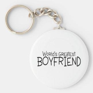 Worlds Greatest Boyfriend Basic Round Button Keychain