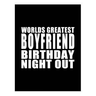 Worlds Greatest Boyfriend Birthday Night Out Post Card