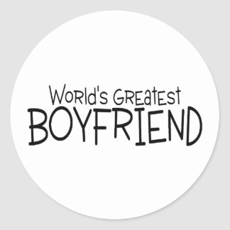 Worlds Greatest Boyfriend Classic Round Sticker