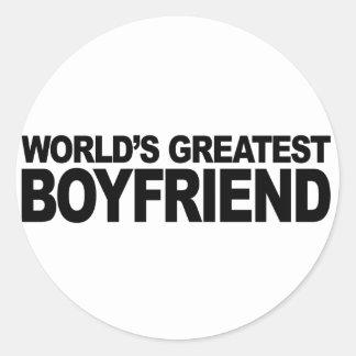 World's Greatest Boyfriend Classic Round Sticker