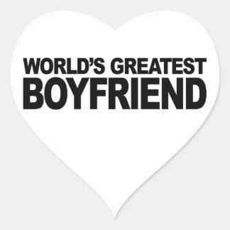 World's Greatest Boyfriend Heart Sticker