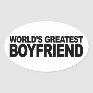 World's Greatest Boyfriend Oval Sticker