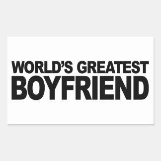 World's Greatest Boyfriend Rectangular Sticker