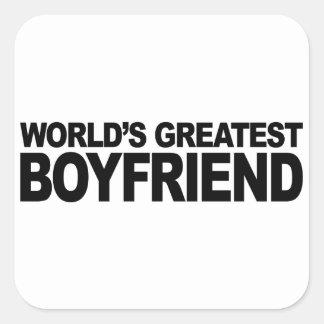 World's Greatest Boyfriend Square Sticker