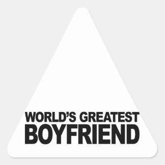 World's Greatest Boyfriend Triangle Sticker