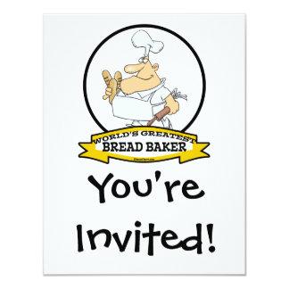 WORLDS GREATEST BREAD BAKER MEN CARTOON CARD