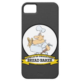 WORLDS GREATEST BREAD BAKER MEN CARTOON iPhone 5 CASE