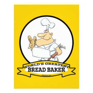 WORLDS GREATEST BREAD BAKER MEN CARTOON CUSTOM FLYER