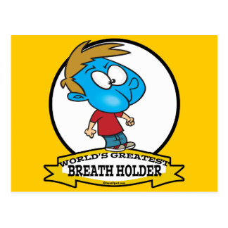 WORLDS GREATEST BREATH HOLDER CARTOON POSTCARD