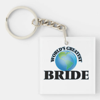 World's Greatest Bride Square Acrylic Key Chains