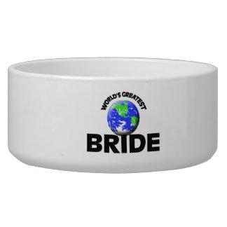 World's Greatest Bride Pet Food Bowls