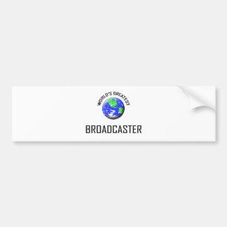 World's Greatest Broadcaster Car Bumper Sticker