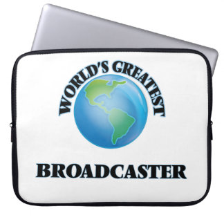 World's Greatest Broadcaster Laptop Computer Sleeves