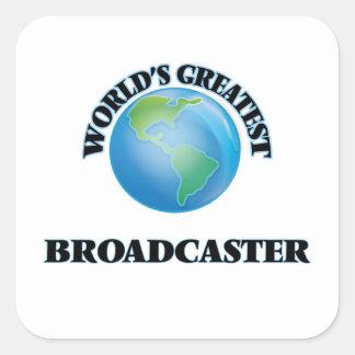 World's Greatest Broadcaster Square Sticker