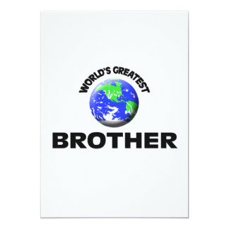 World's Greatest Brother 5x7 Paper Invitation Card