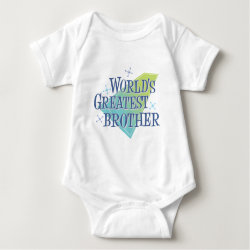 World's Greatest Brother Baby Jersey Bodysuit