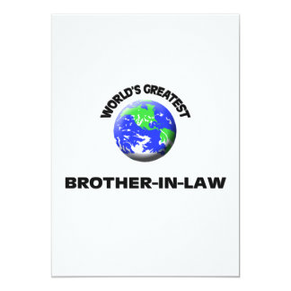 World's Greatest Brother-In-Law 5x7 Paper Invitation Card