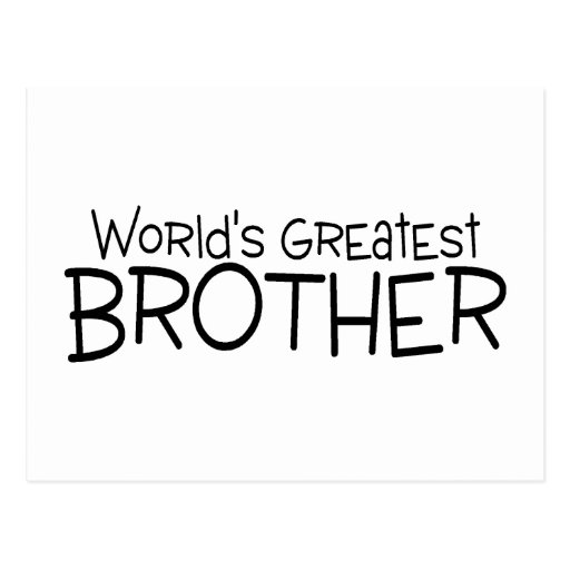 Worlds Greatest Brother Postcard