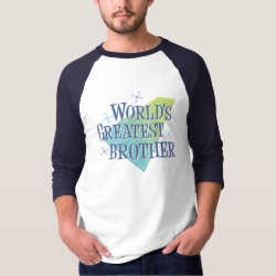 Men's Basic 3/4 Sleeve Raglan T-Shirt with World's Greatest Brother design