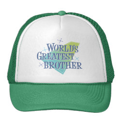 Trucker Hat with World's Greatest Brother design