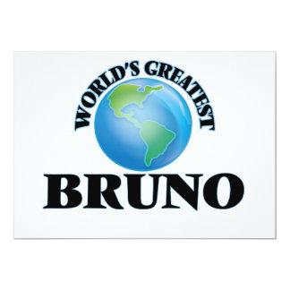 World's Greatest Bruno 5x7 Paper Invitation Card