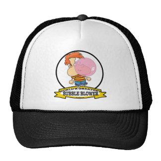 WORLDS GREATEST BUBBLE BLOWER KIDS CARTOON TRUCKER HAT