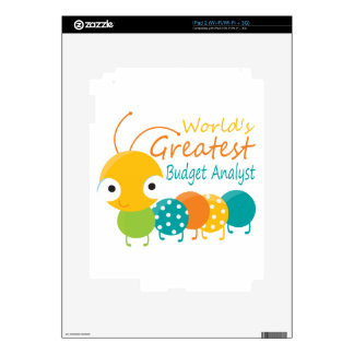 World's Greatest Budget Analyst Skins For iPad 2