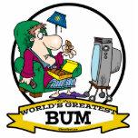 WORLDS GREATEST BUM MEN CARTOON PHOTO CUTOUTS