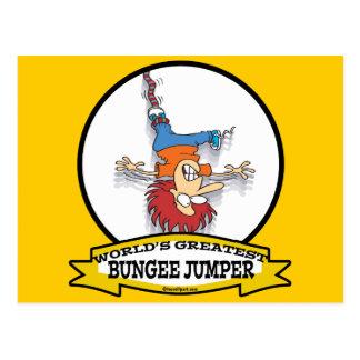 WORLDS GREATEST BUNGEE JUMPER CARTOON POSTCARD