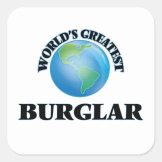 World's Greatest Burglar Square Sticker