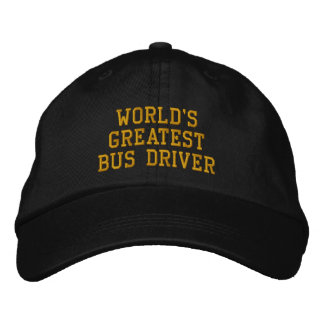 World's greatest bus driver embroidered cap embroidered hat