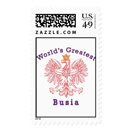 World's Greatest Busia Eagle Postage Stamp