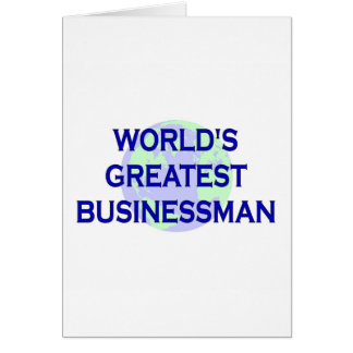 World's Greatest Businessman Card