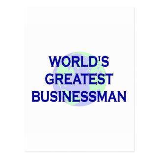 World's Greatest Businessman Postcard
