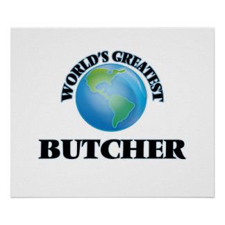 World's Greatest Butcher Poster