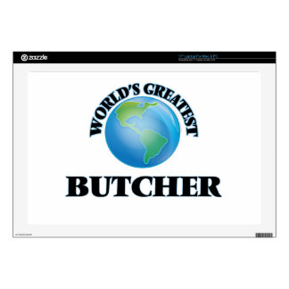 """World's Greatest Butcher 17"""" Laptop Decal"""