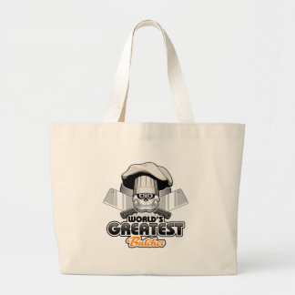 World's Greatest Butcher v2 Large Tote Bag