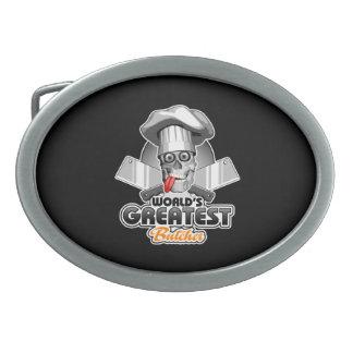 World's Greatest Butcher v3 Oval Belt Buckles