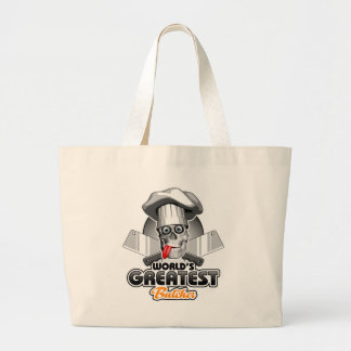 World's Greatest Butcher v3 Large Tote Bag