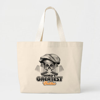 World's Greatest Butcher v6 Large Tote Bag