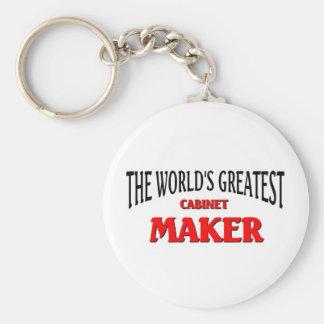 World's Greatest Cabinet Maker Basic Round Button Keychain